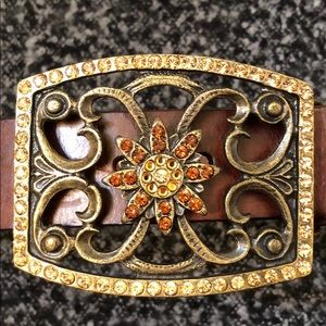 Accessories - Jeweled Leather Belt
